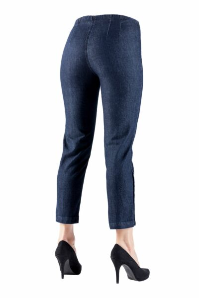 Laurie Cropped Denim 7/8TH Button - 24462 Trousers