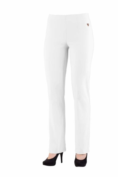 White Straight Leg trousers