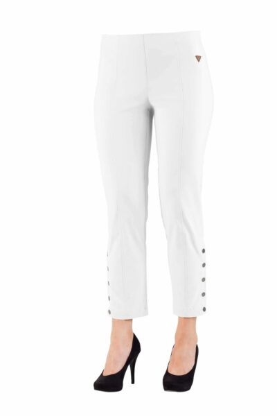 CROPPED BUTTON 7/8TH White